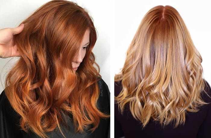 золотистый медный оттенок волос