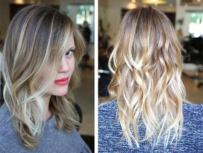 эффект выгоревших волос на русые волосы