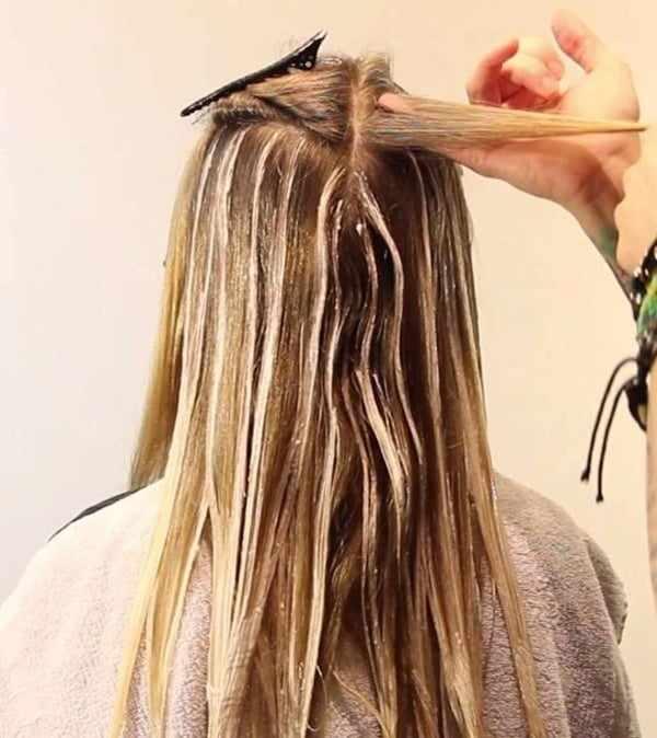 окрашивание с эффектом выгоревших волос