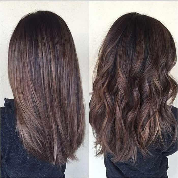 эффект выгоревших волос на темных волосах