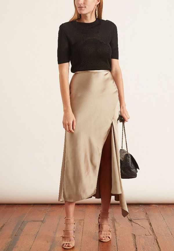 атласная юбка 2021